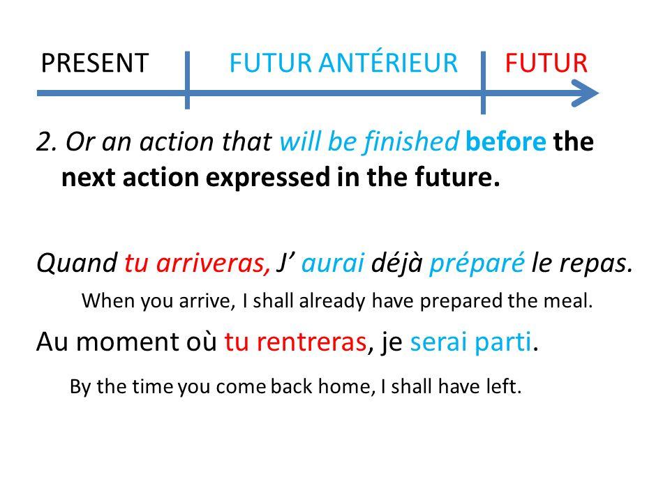 PRESENT FUTUR ANTÉRIEUR FUTUR