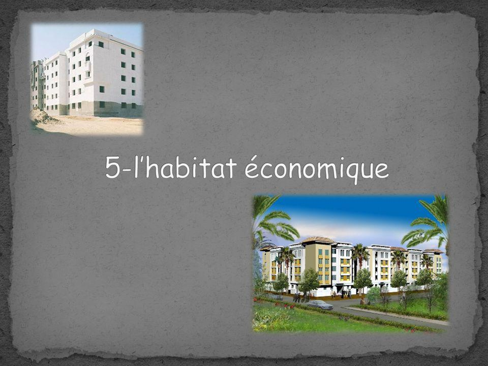 5-l'habitat économique