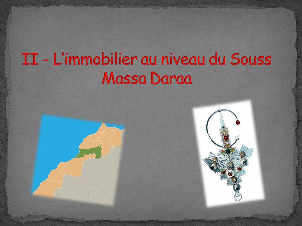 II - L'immobilier au niveau du Souss Massa Daraa