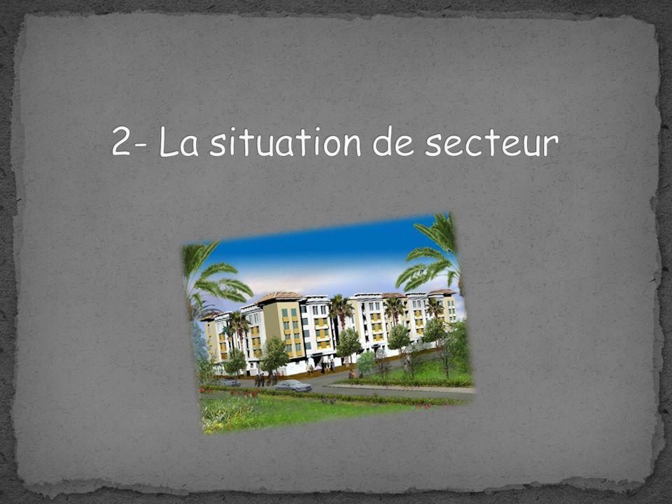 2- La situation de secteur