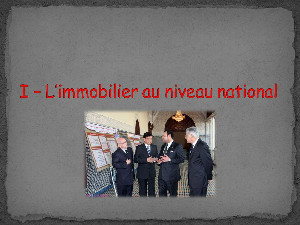 I – L'immobilier au niveau national