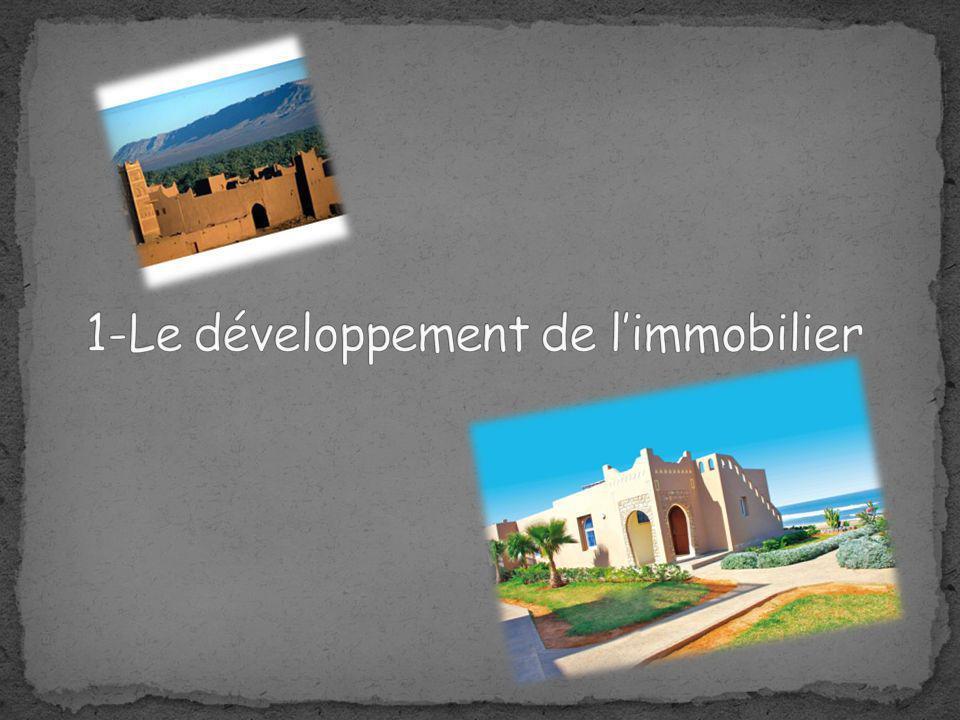 1-Le développement de l'immobilier