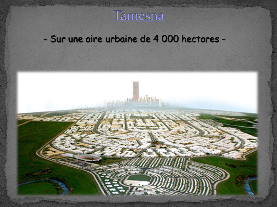 Tamesna - Sur une aire urbaine de 4 000 hectares -