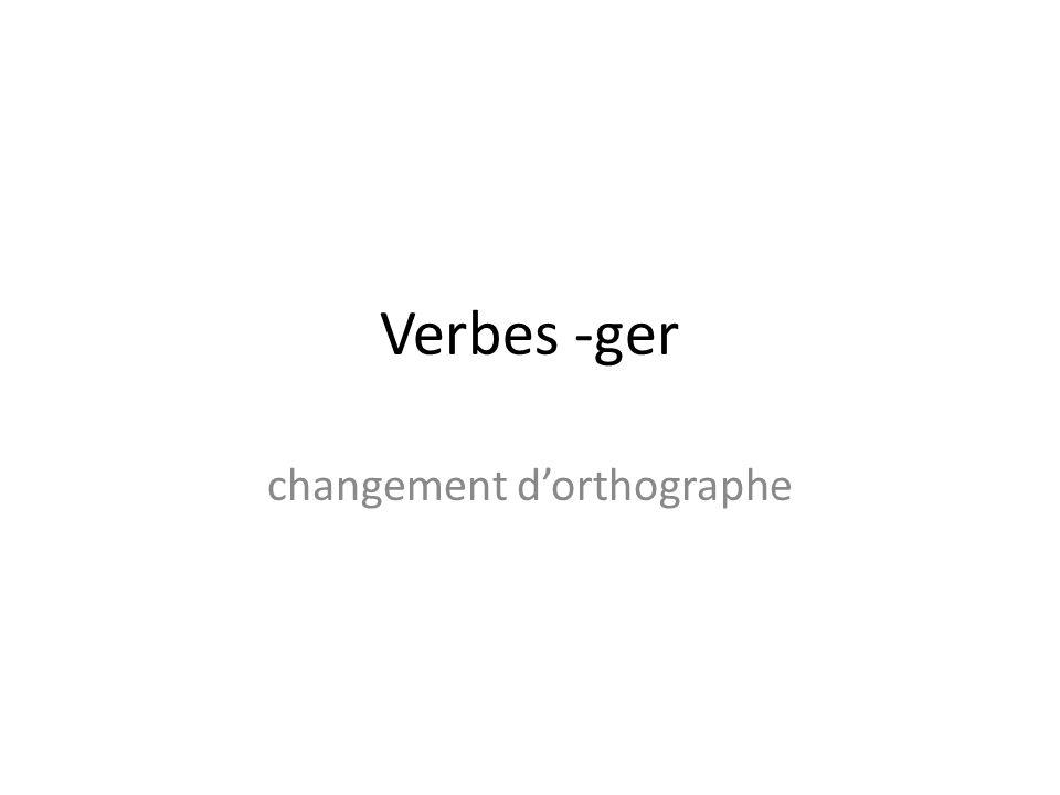 changement d'orthographe