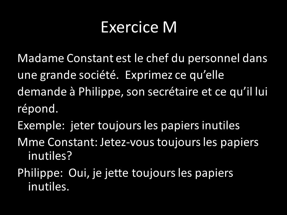 Exercice M