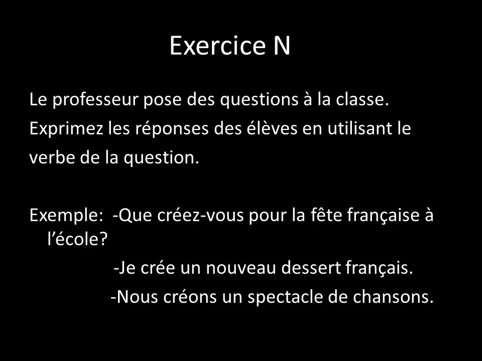 Exercice N