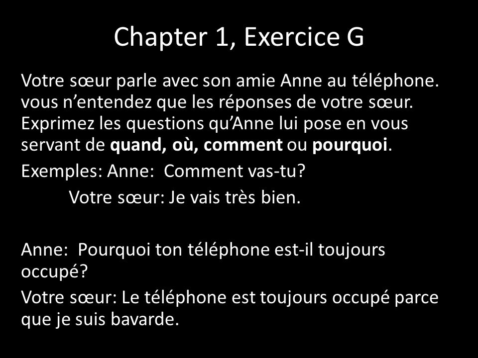 Chapter 1, Exercice G
