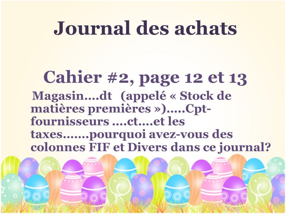 Journal des achats Cahier #2, page 12 et 13