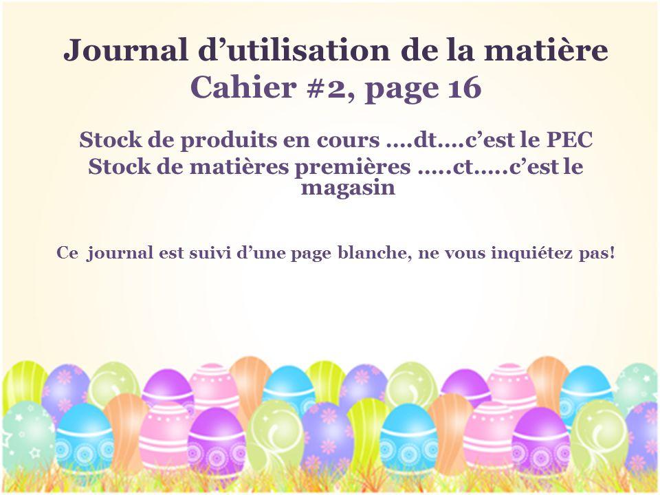 Journal d'utilisation de la matière Cahier #2, page 16