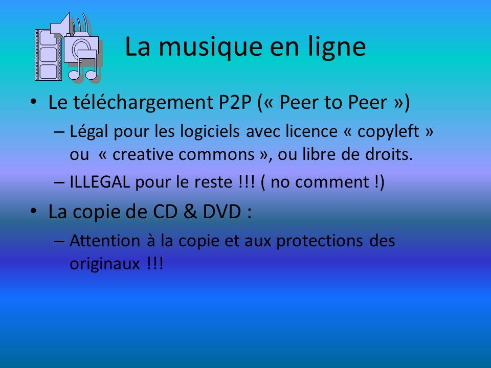 La musique en ligne Le téléchargement P2P (« Peer to Peer »)