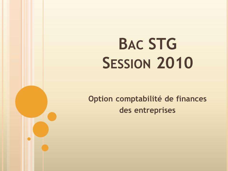 Option comptabilité de finances des entreprises