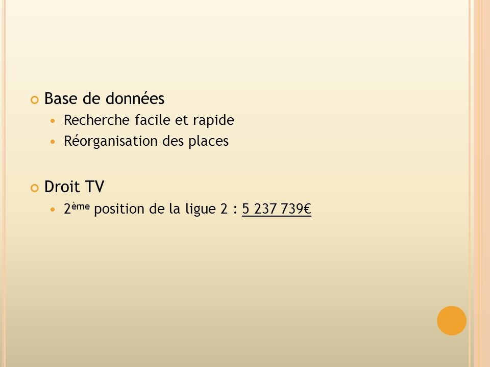 Base de données Droit TV Recherche facile et rapide