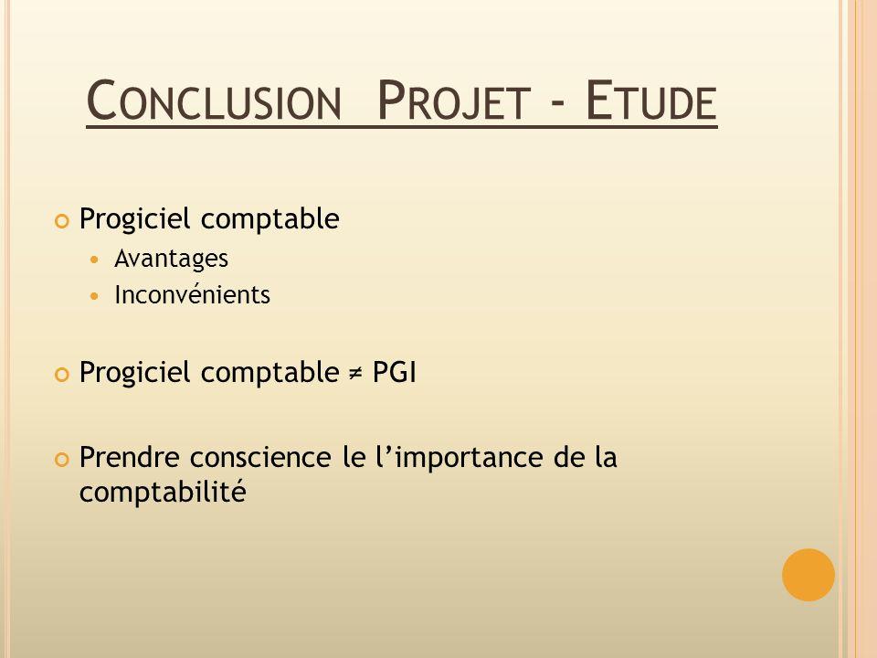 Conclusion Projet - Etude