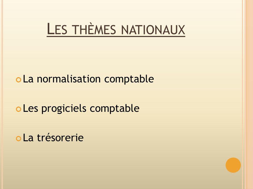 Les thèmes nationaux La normalisation comptable