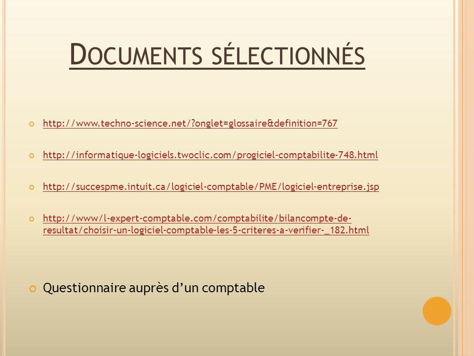 Documents sélectionnés