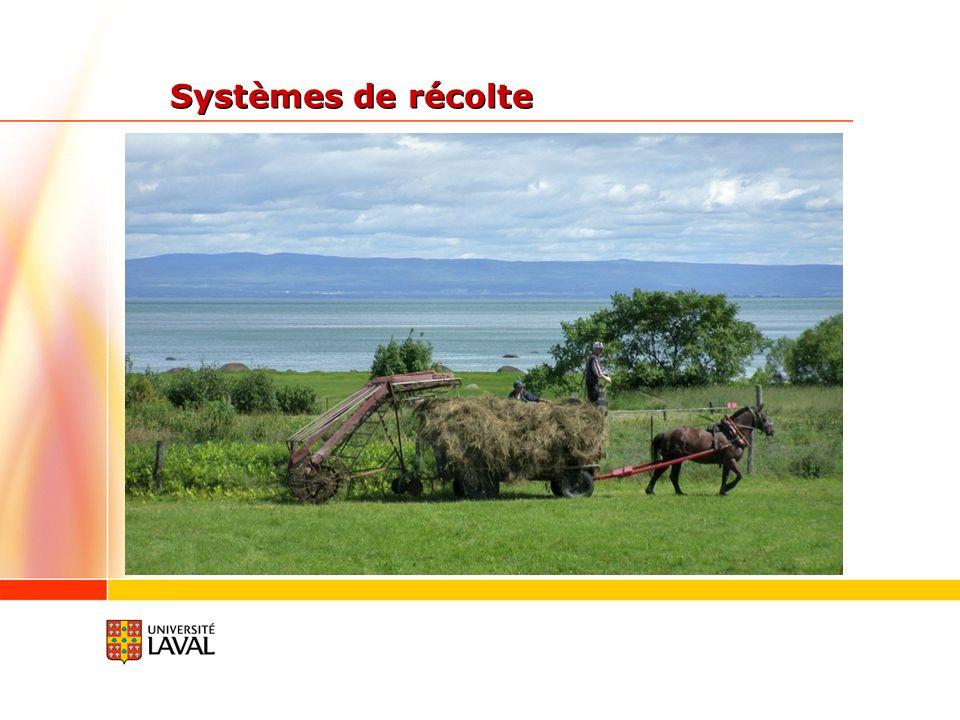 Systèmes de récolte