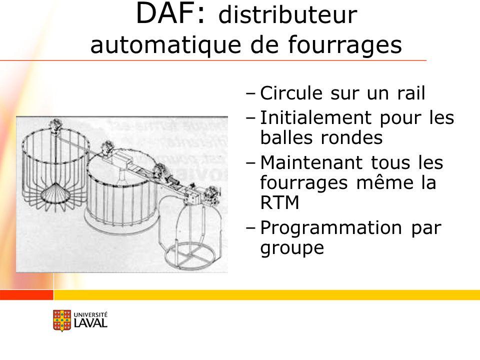 DAF: distributeur automatique de fourrages