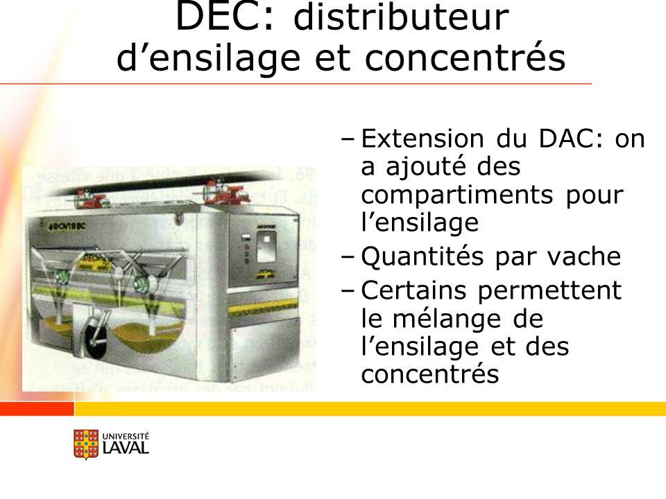 DEC: distributeur d'ensilage et concentrés