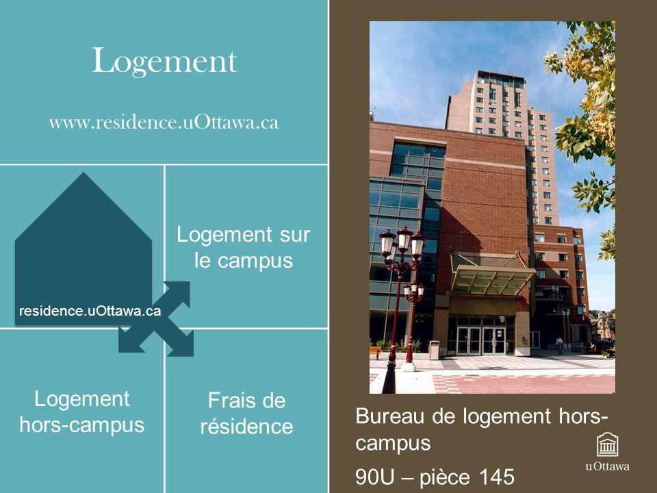 Logement www.residence.uOttawa.ca Logement sur le campus
