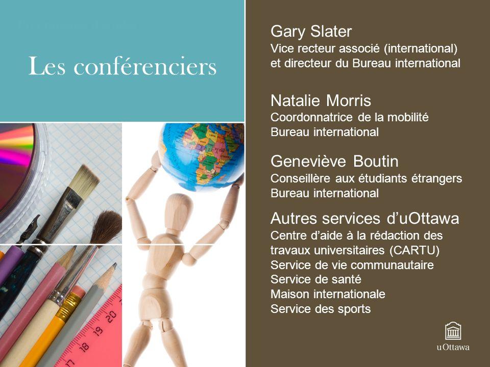 Les conférenciers Gary Slater