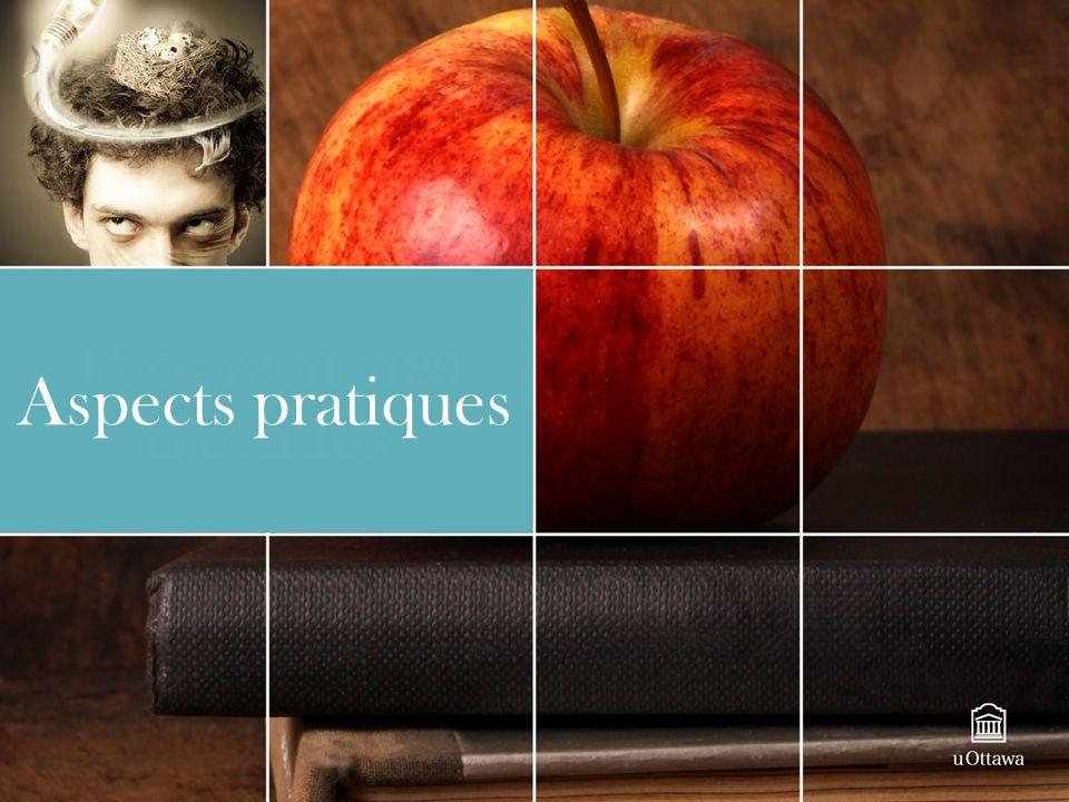 Aspects pratiques