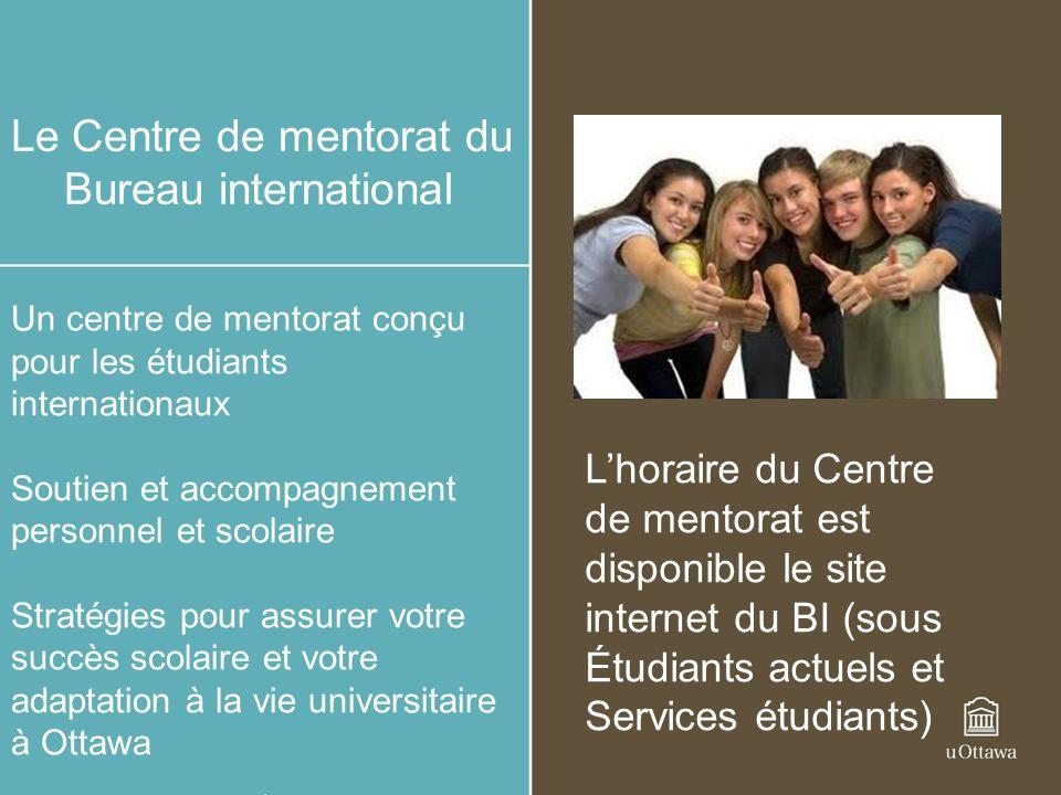 Le Centre de mentorat du Bureau international