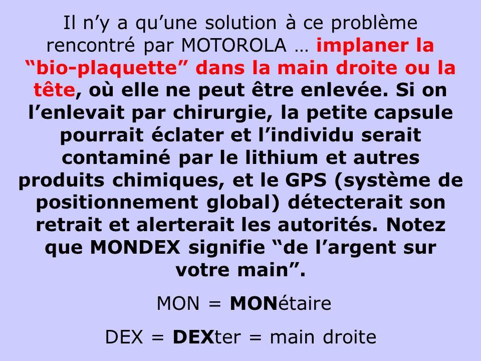 DEX = DEXter = main droite