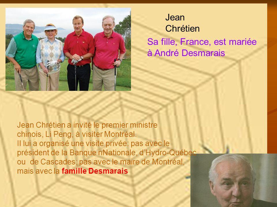 Sa fille, France, est mariée à André Desmarais