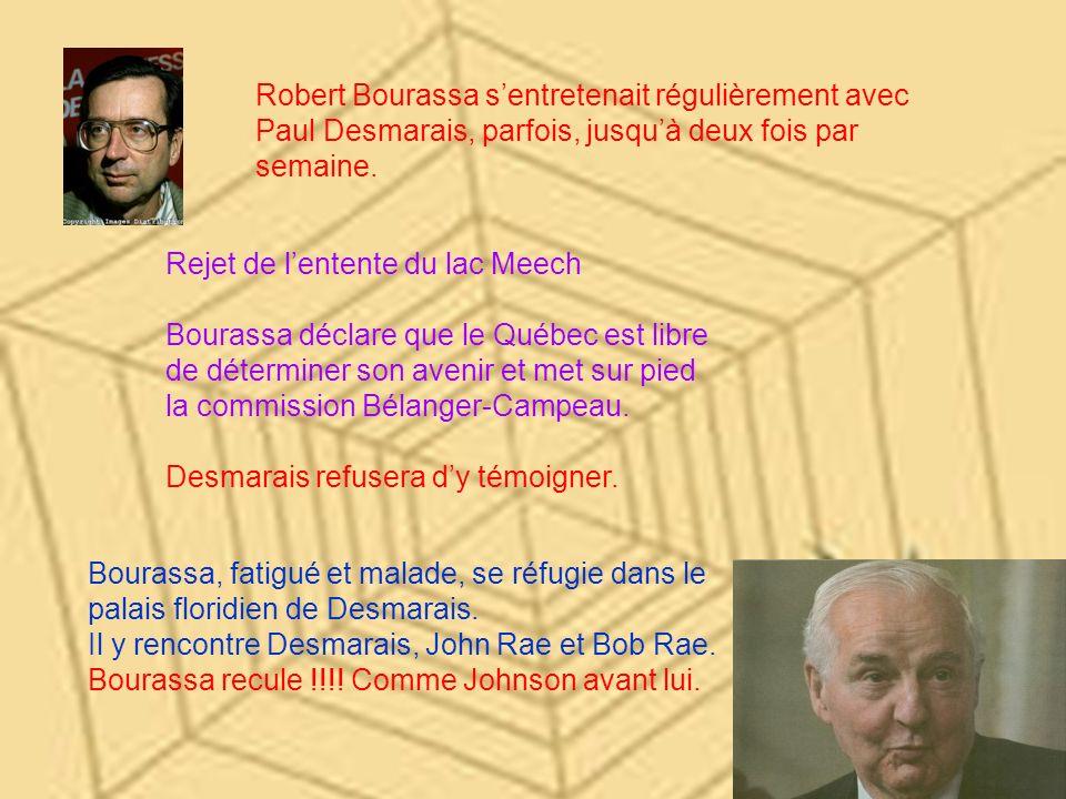 Robert Bourassa s'entretenait régulièrement avec