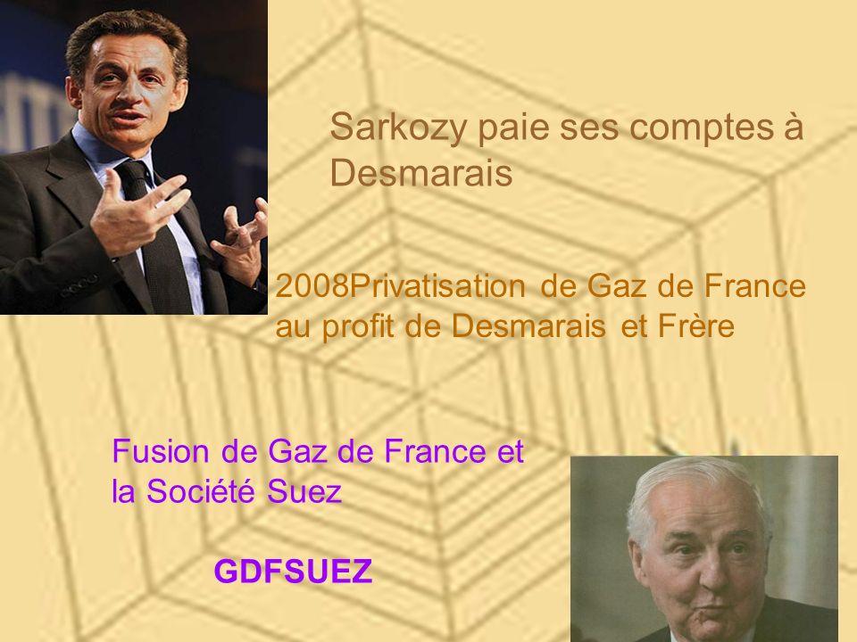 Sarkozy paie ses comptes à Desmarais