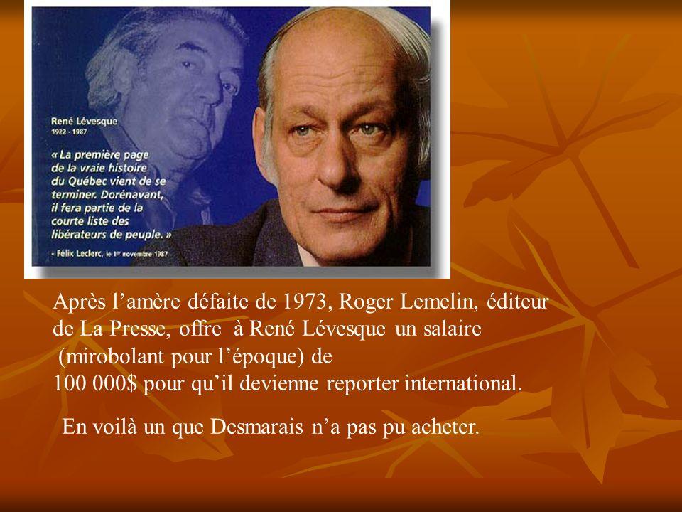 Après l'amère défaite de 1973, Roger Lemelin, éditeur