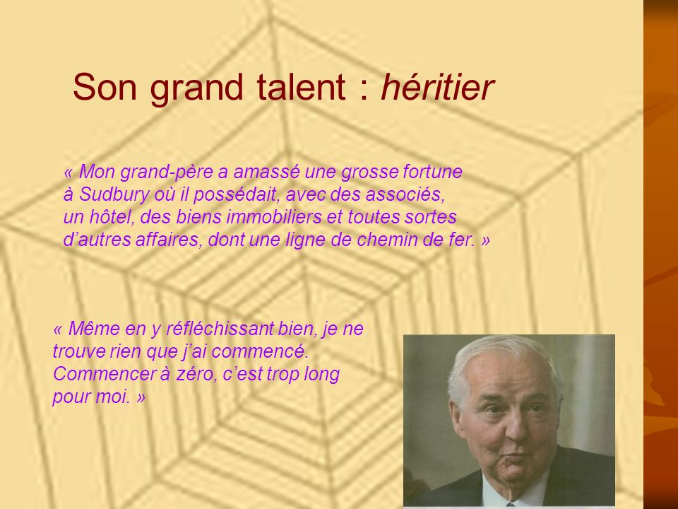 Son grand talent : héritier
