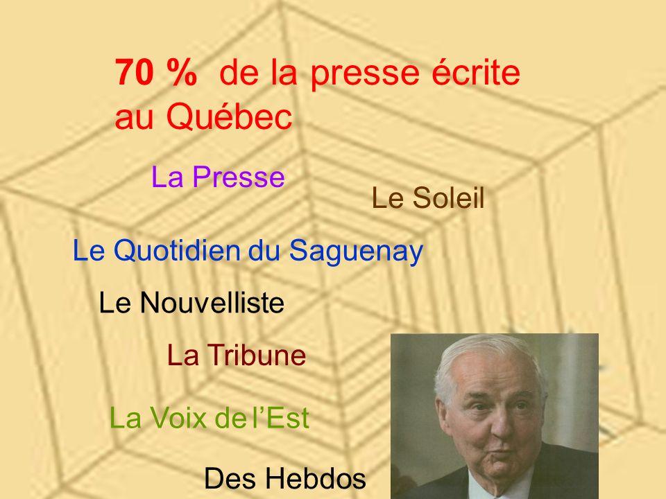 70 % de la presse écrite au Québec La Presse Le Soleil