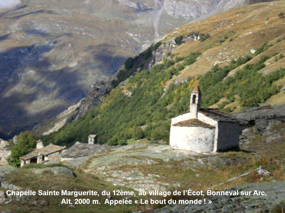 Chapelle Sainte Marguerite, du 12ème, au village de l'Écot, Bonneval sur Arc, Alt.