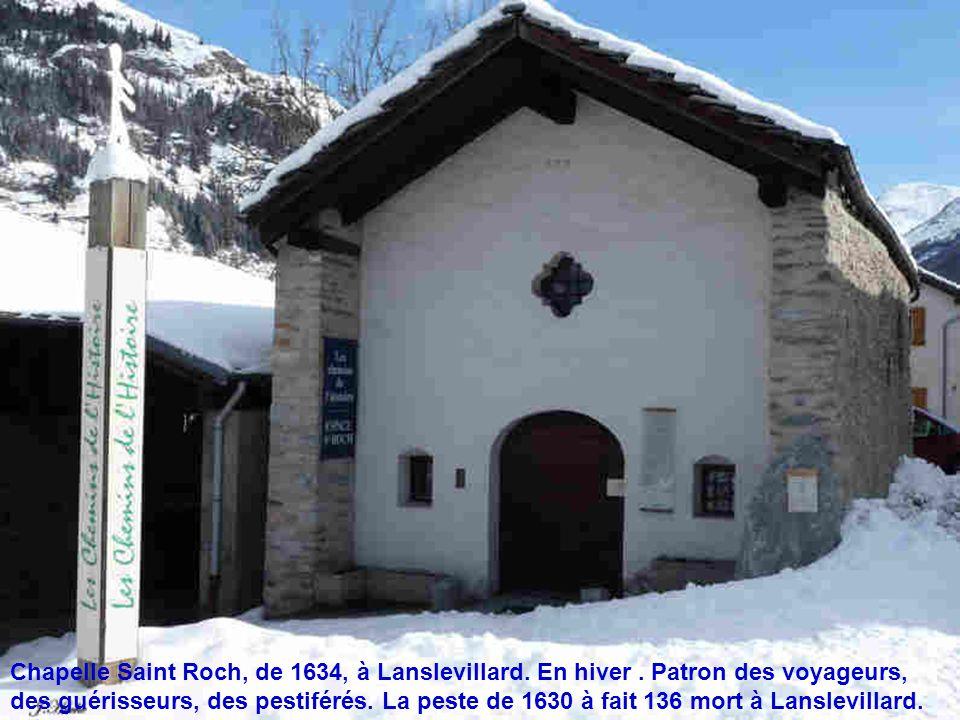 Chapelle Saint Roch, de 1634, à Lanslevillard. En hiver