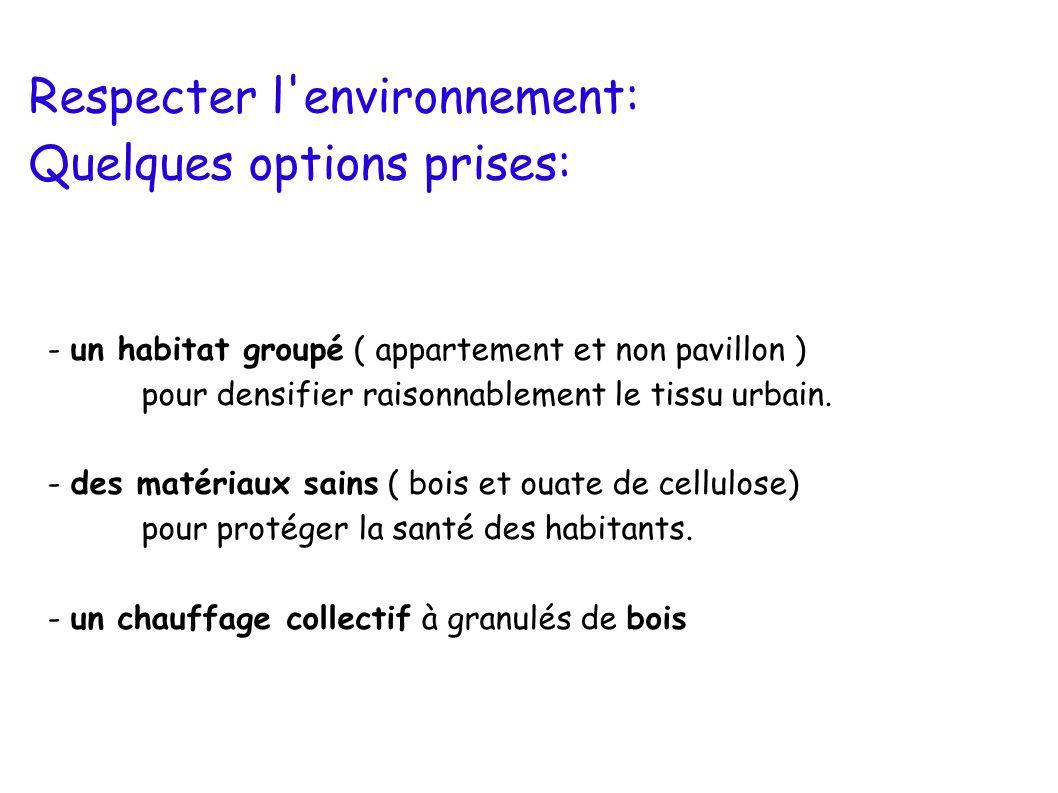 Respecter l environnement: Quelques options prises: