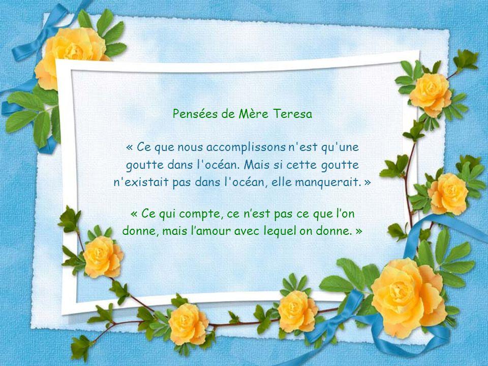 Pensées de Mère Teresa