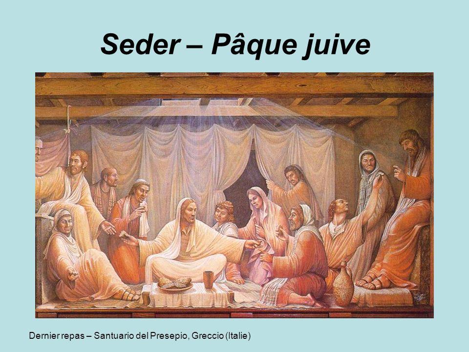 Seder – Pâque juive Dernier repas – Santuario del Presepio, Greccio (Italie)