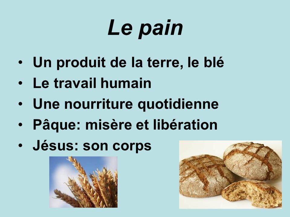 Le pain Un produit de la terre, le blé Le travail humain