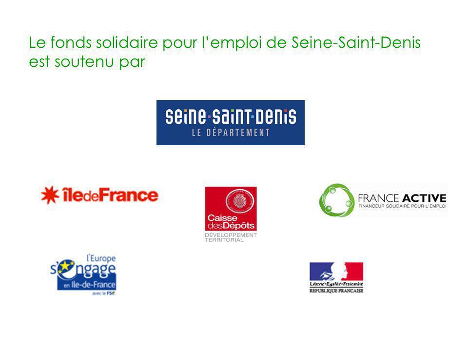 Le fonds solidaire pour l'emploi de Seine-Saint-Denis est soutenu par
