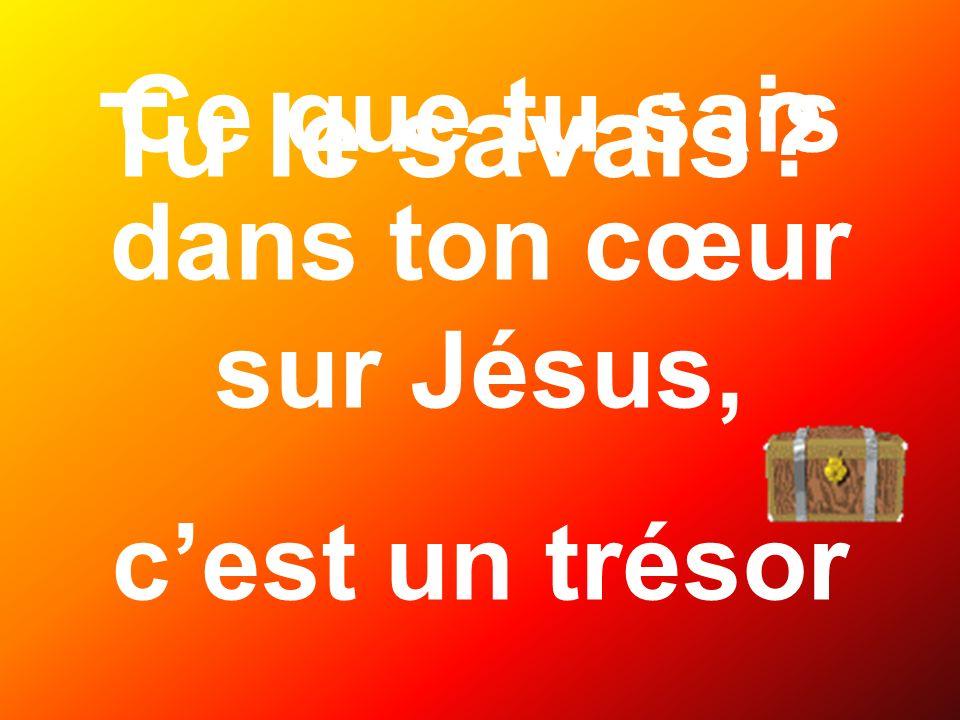 Ce que tu sais dans ton cœur sur Jésus,