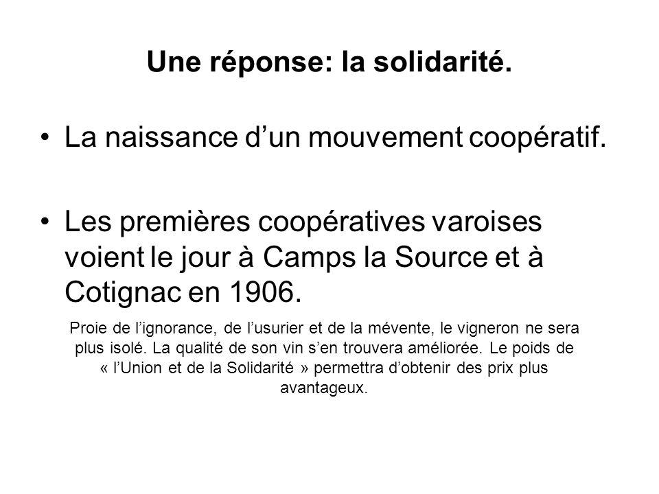 Une réponse: la solidarité.
