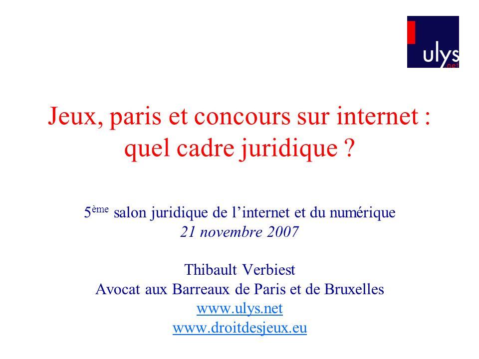 Jeux, paris et concours sur internet : quel cadre juridique