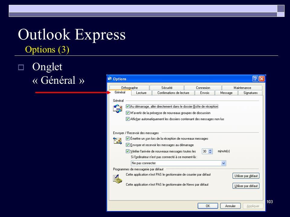 Outlook Express Options (3)