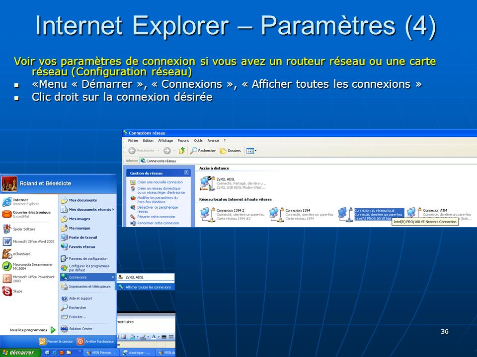 Internet Explorer – Paramètres (4)