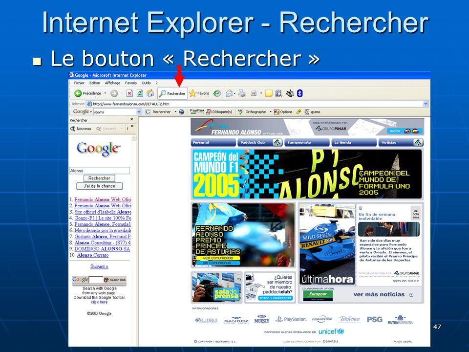 Internet Explorer - Rechercher