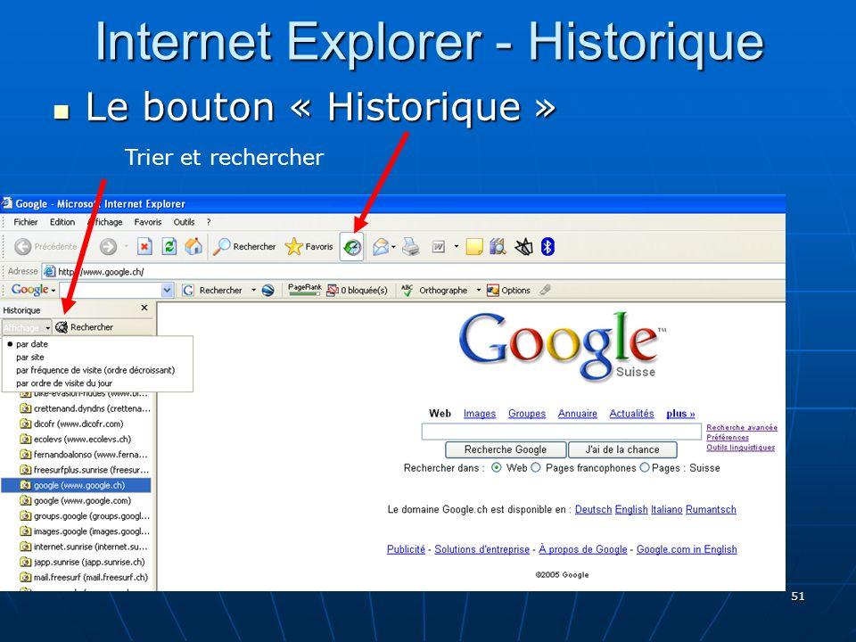 Internet Explorer - Historique