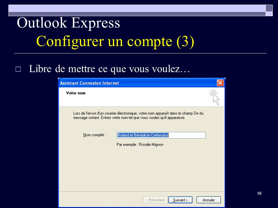 Outlook Express Configurer un compte (3)