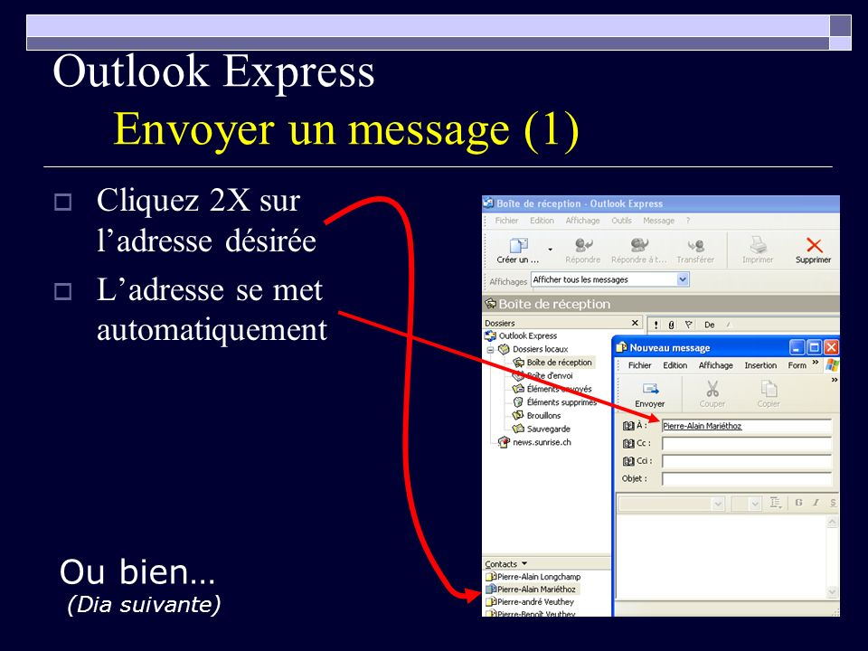 Outlook Express Envoyer un message (1)
