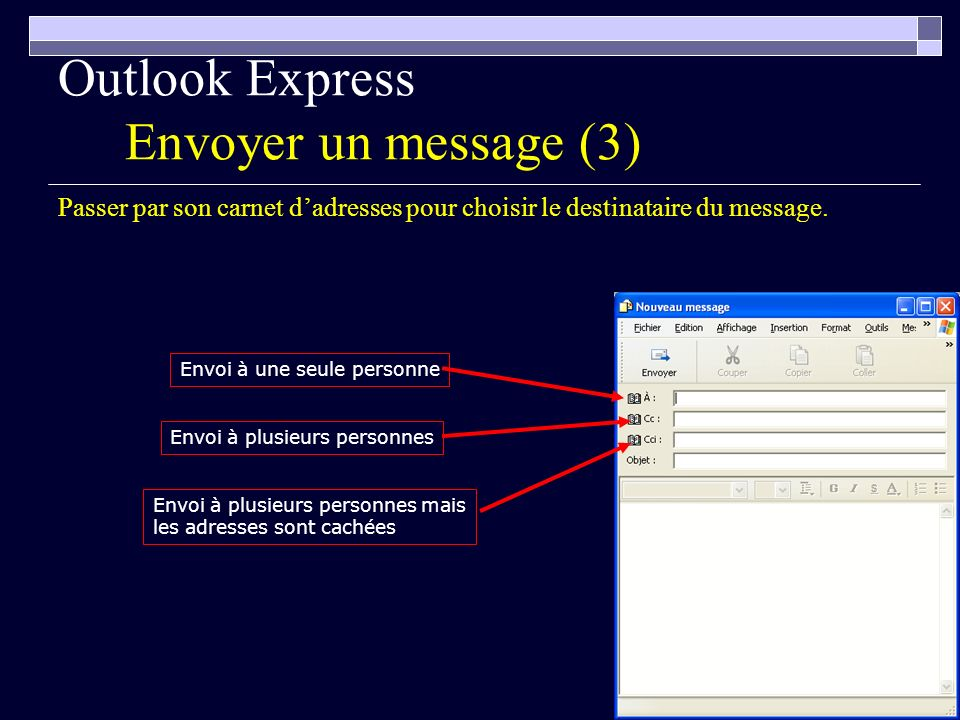 Outlook Express Envoyer un message (3)
